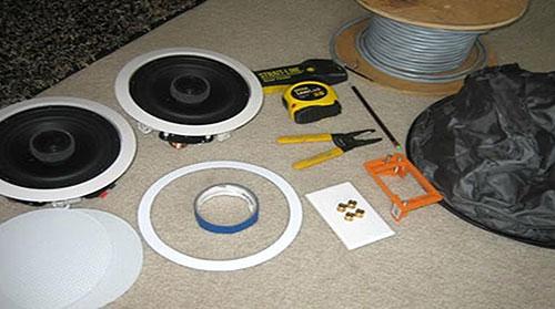 Pour une installation commerciale ou résidentiel d'un système audio permanent