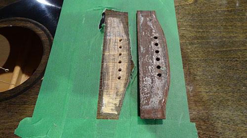 Réparation de ponts de guitare qui décollent RDL